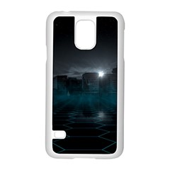 Skyline Night Star Sky Moon Sickle Samsung Galaxy S5 Case (white)