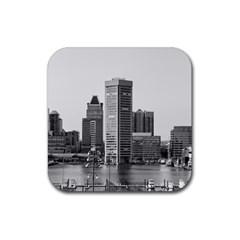 Architecture City Skyscraper Rubber Square Coaster (4 Pack)