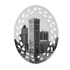 Architecture City Skyscraper Ornament (oval Filigree)