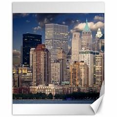 New York Skyline Manhattan Hudson Canvas 16  X 20