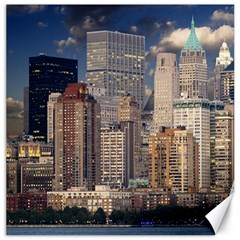 New York Skyline Manhattan Hudson Canvas 20  X 20