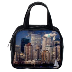New York Skyline Manhattan Hudson Classic Handbags (one Side)