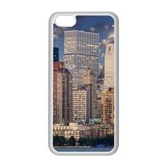 New York Skyline Manhattan Hudson Apple Iphone 5c Seamless Case (white)