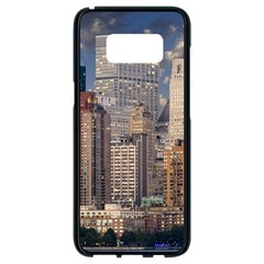 New York Skyline Manhattan Hudson Samsung Galaxy S8 Black Seamless Case