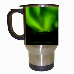 Aurora Borealis Northern Lights Sky Travel Mugs (white) by Simbadda