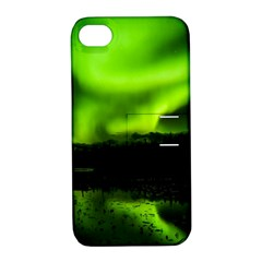 Aurora Borealis Northern Lights Sky Apple Iphone 4/4s Hardshell Case With Stand