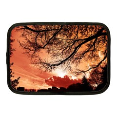 Tree Skyline Silhouette Sunset Netbook Case (medium)