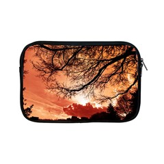 Tree Skyline Silhouette Sunset Apple Ipad Mini Zipper Cases