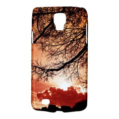 Tree Skyline Silhouette Sunset Galaxy S4 Active by Simbadda