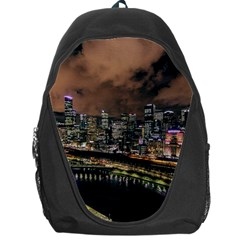 Cityscape Night Buildings Backpack Bag