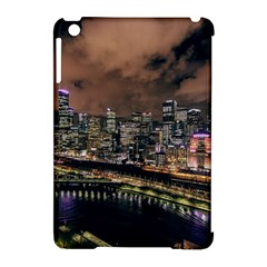 Cityscape Night Buildings Apple Ipad Mini Hardshell Case (compatible With Smart Cover) by Simbadda