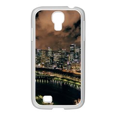 Cityscape Night Buildings Samsung Galaxy S4 I9500/ I9505 Case (white)