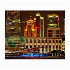 Shanghai Skyline Architecture Small Glasses Cloth