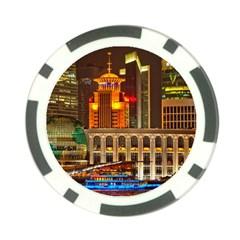 Shanghai Skyline Architecture Poker Chip Card Guard