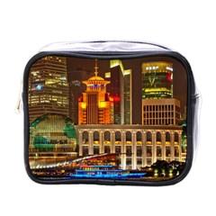 Shanghai Skyline Architecture Mini Toiletries Bags by Simbadda