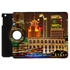 Shanghai Skyline Architecture Apple Ipad Mini Flip 360 Case