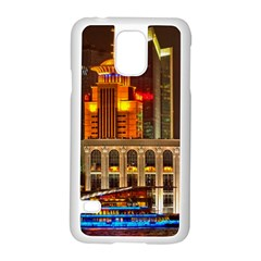 Shanghai Skyline Architecture Samsung Galaxy S5 Case (white)