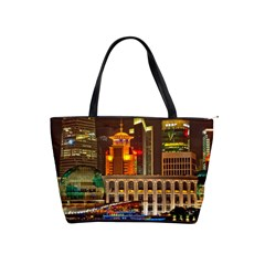 Shanghai Skyline Architecture Shoulder Handbags