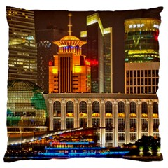 Shanghai Skyline Architecture Standard Flano Cushion Case (one Side)