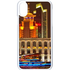 Shanghai Skyline Architecture Apple Iphone X Seamless Case (white)