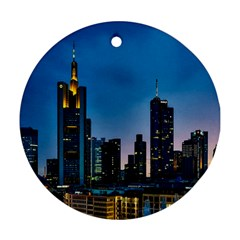 Frankfurt Germany Panorama City Ornament (round)