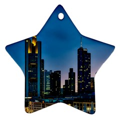 Frankfurt Germany Panorama City Star Ornament (two Sides)