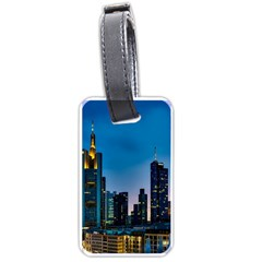 Frankfurt Germany Panorama City Luggage Tags (one Side)