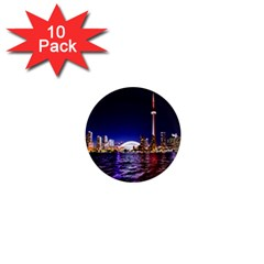 Toronto City Cn Tower Skydome 1  Mini Magnet (10 Pack)