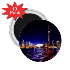 Toronto City Cn Tower Skydome 2 25  Magnets (10 Pack)