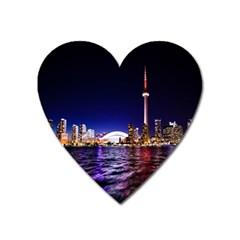 Toronto City Cn Tower Skydome Heart Magnet by Simbadda