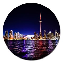Toronto City Cn Tower Skydome Magnet 5  (round)