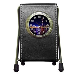Toronto City Cn Tower Skydome Pen Holder Desk Clocks