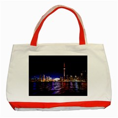 Toronto City Cn Tower Skydome Classic Tote Bag (red)