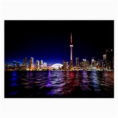 Toronto City Cn Tower Skydome Large Glasses Cloth (2 Side)