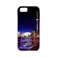 Toronto City Cn Tower Skydome Apple Iphone 5 Classic Hardshell Case (pc+silicone)