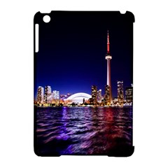 Toronto City Cn Tower Skydome Apple Ipad Mini Hardshell Case (compatible With Smart Cover) by Simbadda