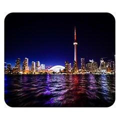 Toronto City Cn Tower Skydome Double Sided Flano Blanket (small)