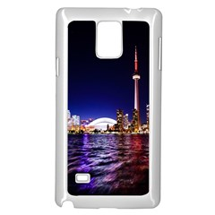 Toronto City Cn Tower Skydome Samsung Galaxy Note 4 Case (white)