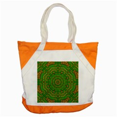 Wonderful Mandala Of Green And Golden Love Accent Tote Bag