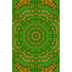 Wonderful Mandala Of Green And Golden Love 5 5  X 8 5  Notebooks