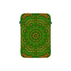 Wonderful Mandala Of Green And Golden Love Apple Ipad Mini Protective Soft Cases