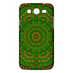 Wonderful Mandala Of Green And Golden Love Samsung Galaxy Mega 5 8 I9152 Hardshell Case