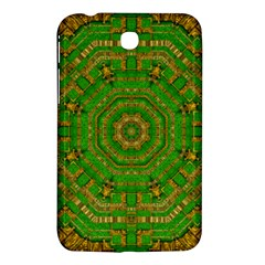 Wonderful Mandala Of Green And Golden Love Samsung Galaxy Tab 3 (7 ) P3200 Hardshell Case