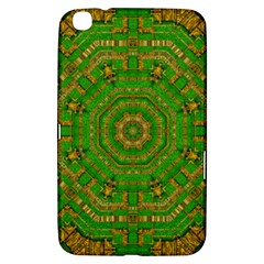 Wonderful Mandala Of Green And Golden Love Samsung Galaxy Tab 3 (8 ) T3100 Hardshell Case