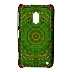 Wonderful Mandala Of Green And Golden Love Nokia Lumia 620