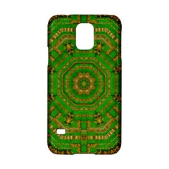 Wonderful Mandala Of Green And Golden Love Samsung Galaxy S5 Hardshell Case