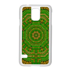 Wonderful Mandala Of Green And Golden Love Samsung Galaxy S5 Case (white)