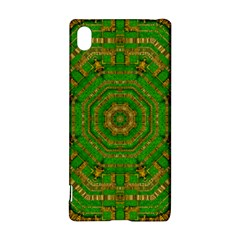Wonderful Mandala Of Green And Golden Love Sony Xperia Z3+