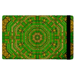 Wonderful Mandala Of Green And Golden Love Apple Ipad Pro 9 7   Flip Case