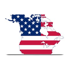 Flag Map Of Canada And United States (american Flag) Plate Mats by goodart